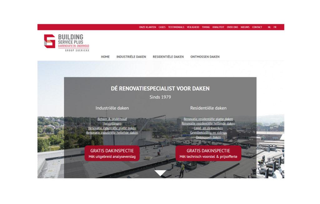 Building Service Plus Homepagina