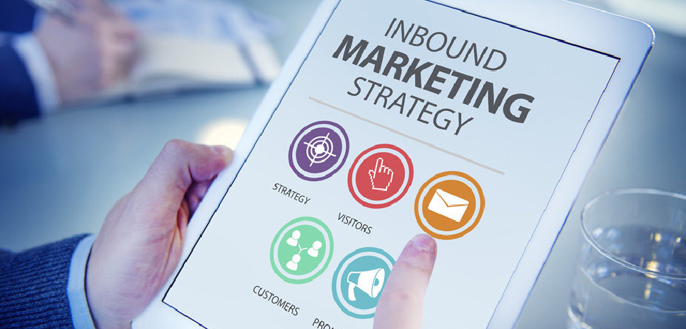 Tablet met icoontjes inbound marketing strategy