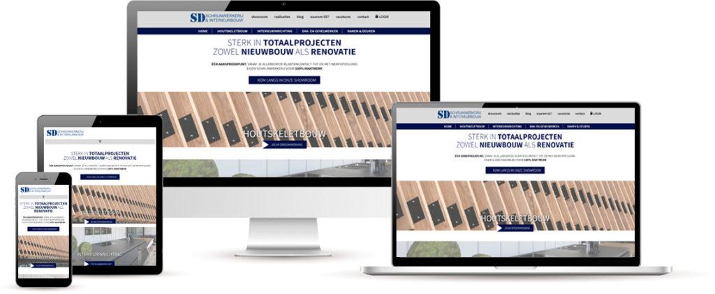 SD Schrijnwerkerij responsive website