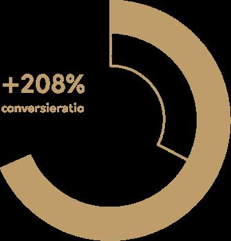 VNZ conversieratio +208%