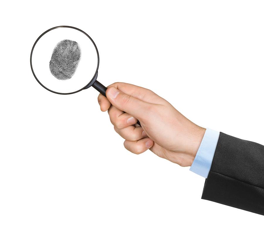 Identiteitsscan vergrootglas