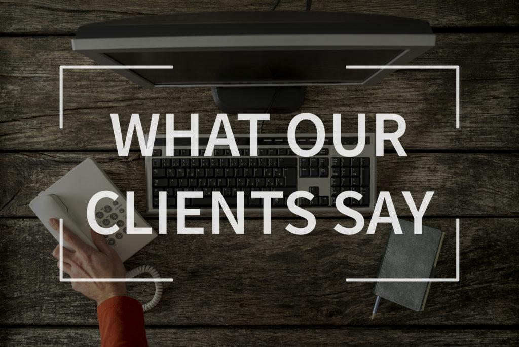 Wat onze klanten zeggen