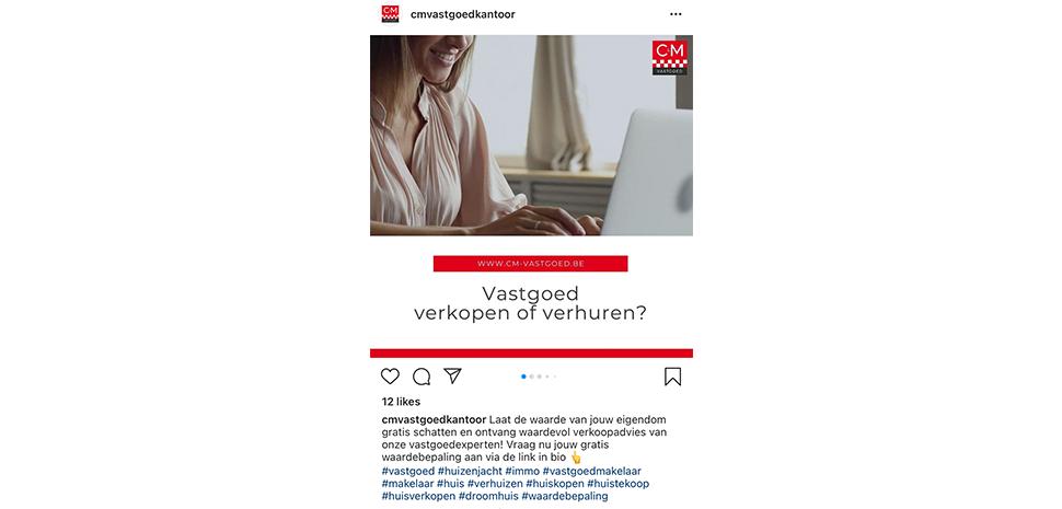 Voorbeeld call to action om te klikken op de link in bio van Instagram