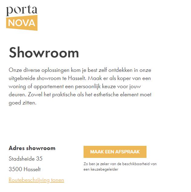 Porta Nova routebeschrijving tonen