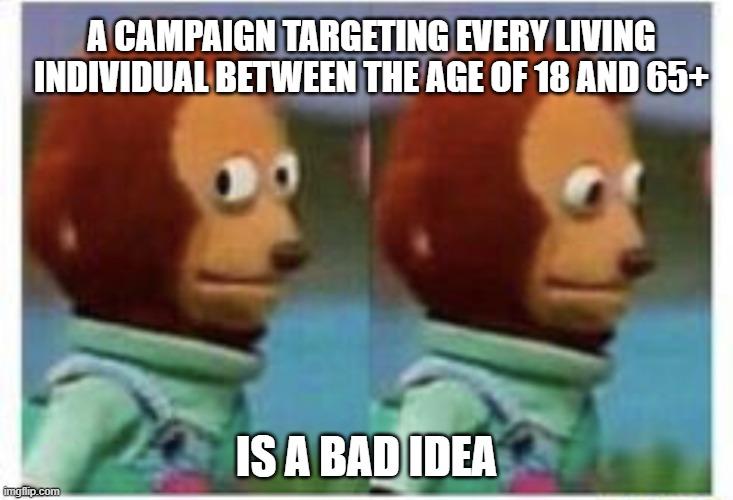 doelgroep bepaling targeting fout meme