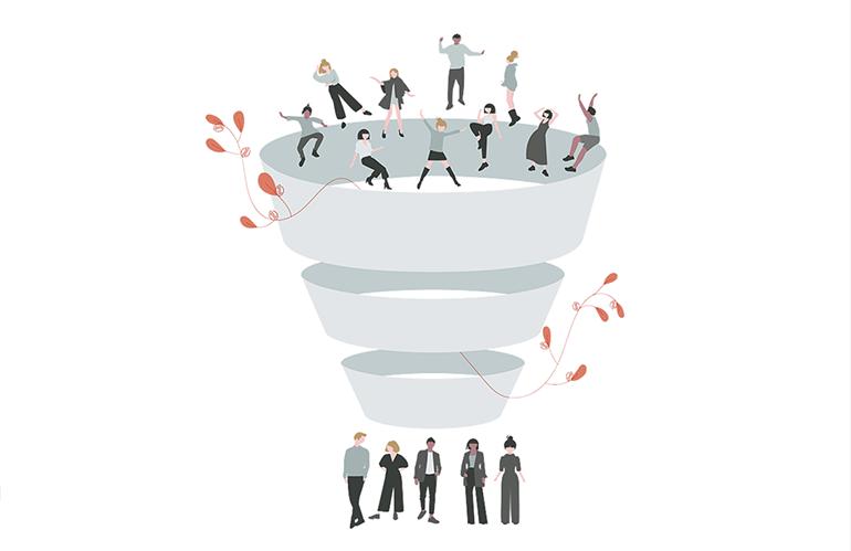 Social media in de marketing funnel