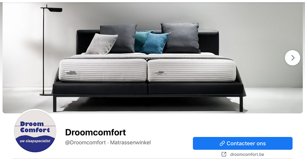 Facebook slideshow cover photo voor retailers