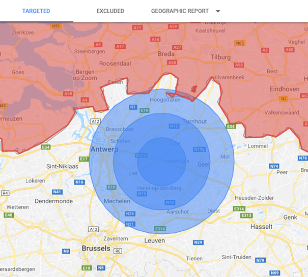 Google Ads locatietargeting