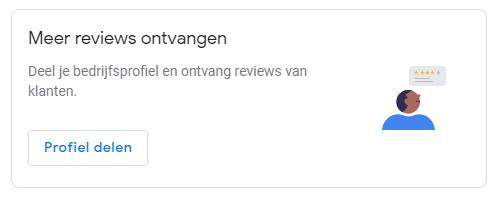 Google Mijn Bedrijf actief reviews vragen