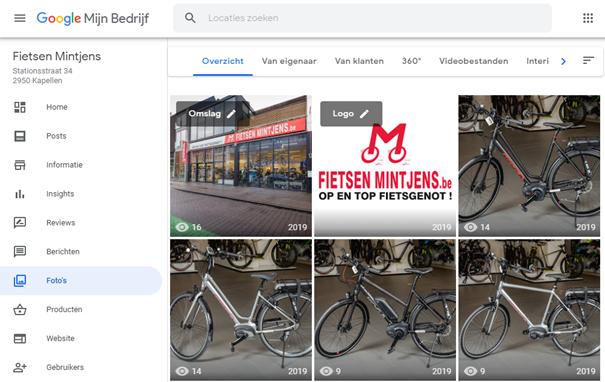 Google Mijn Bedrijf authentieke fotos backend